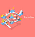 storytelling guide creative content writing and vector image