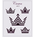 Stylized drawings of crowns a set icons on vector image vector image