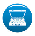 suitcase money icon blue vector image