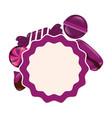 sweet candies label lollipop macaron chip vector image