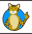 tiger sticker icon avatar vector image vector image