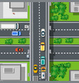 top view from above on highway freeway vector image vector image