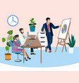training future employees office work report in vector image vector image