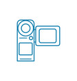 videotaping linear icon concept videotaping line vector image