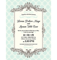 Vintage Wedding invitation border and frame vector image vector image