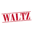 waltz red grunge vintage stamp isolated on white vector image vector image