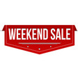 weekend sale banner design vector image vector image