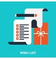 wish list vector image vector image
