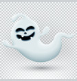 with 3d funny ghost template vector image