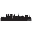 York England city skyline Detailed silhouette vector image vector image