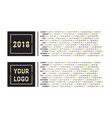 2018 calendar planner creative design template vector image
