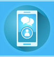 creative mobile chat vector image
