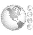 Digital globes vector image