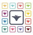 underwear flat icons set vector image