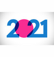 2021 straight simple colorful blue vector image vector image