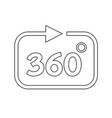 360 degree icon vector image