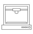 3d printer model icon outline vector image vector image