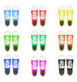 a set of sports shoes gym shoes keds various vector image