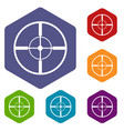 aim icons set vector image vector image