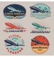Air badges color vector image vector image