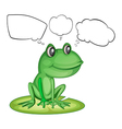 An amphibian and the empty callouts vector image