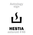 astrology asteroid hestia vector image vector image