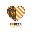 beer logo love concept design background vector image