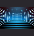 blue spotlight on stage vector image vector image