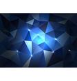 Blue Triangles Dark vector image vector image