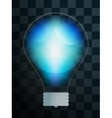 Bulb lamp transparent isolated vector image vector image