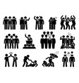 businessman being a leader this businessman has vector image vector image