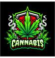 cannabis mascot logo design vector image