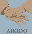 capture of hands in Aikido vector image vector image