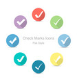 check marks icons in flat style set of check vector image vector image