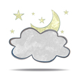 climate cloud and moon vector image vector image
