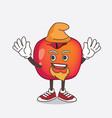 crab apple cartoon mascot character performed vector image vector image