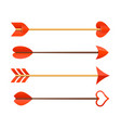 Cupids arrows vector image