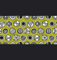 decorative tribal elements vector image