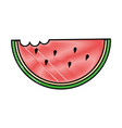 delicious watermelon slice icon vector image
