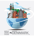 Denmark Landmark Global Travel And Journey vector image