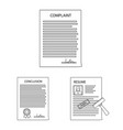 design of form and document symbol set of vector image