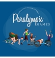 Disable Handicap Sport Paralympic Games Stick vector image vector image