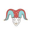 festive mask jester harlequin trickster vector image