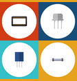 flat icon appliance set of resist mainframe vector image vector image