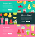 flat smoothie elements web banner templates vector image vector image