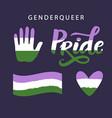 gender queer pride symbols lgbt rights concept vector image vector image