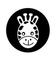giraffe face icon design vector image