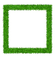 Green grass Square frame with copy-space 1 vector image