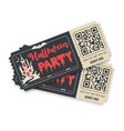 happy halloween party tickets vector image vector image