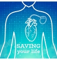 Heart pacemaker body vector image